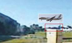 real aeroplane superimposed over photo