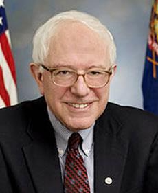 A portrait of Senator Bernie Sanders