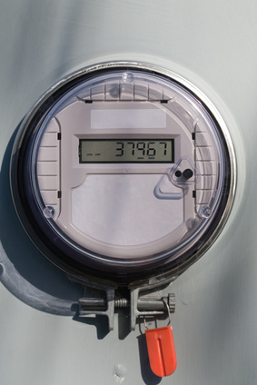 A photograph of a so-called smart meter