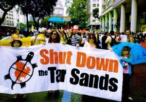 Ta'Kaiya Blaney protests the Tar Sands