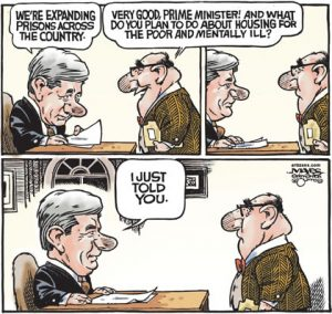Harper has prisons for poor and mentally ill