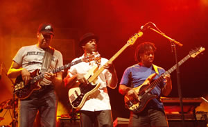 Stanley Clarke, Marcus Miller and Victor Wooten in Istanbul, Turkey