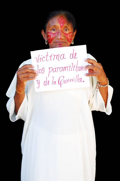 I am a victim of paramilitaries and the guerrilla