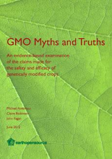 GMO Myths and Truths Book coveer