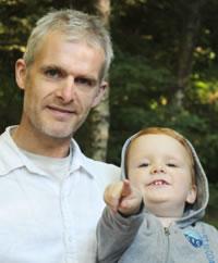 Robert Alstead and child