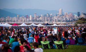 Crowd at Vancouver Folk Music Fest
