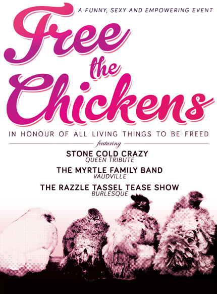 Free the chickens poster