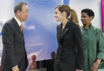 Emma greets UN Secretary General