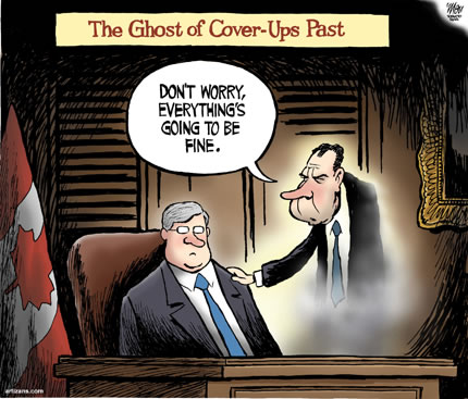 ghost of Nixon visits Harper
