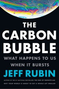 Cover of the book, the Carbon Bubble - earth in space