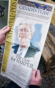 harper on the National Post front page