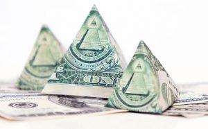 pyramids of money
