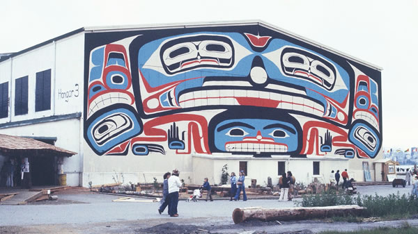 Bill Reid mural at Habitat photo by Walter Quan
