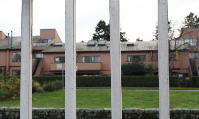 houses behind bars