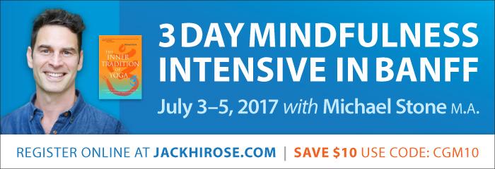 Jack hirose 3 day mindfulness intensive in Banff