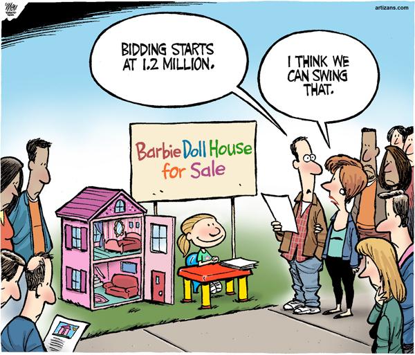 Doll house for sale cartoon