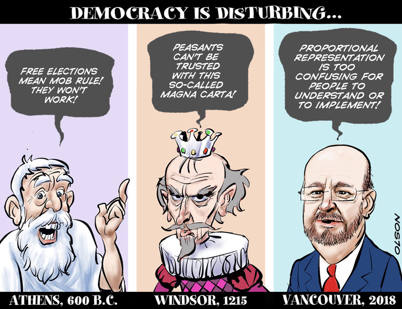 democracy is disturbing