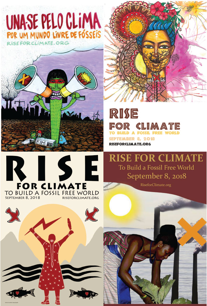 Rise for Climate posters