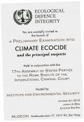 Ecocide: naming an unspeakable crime