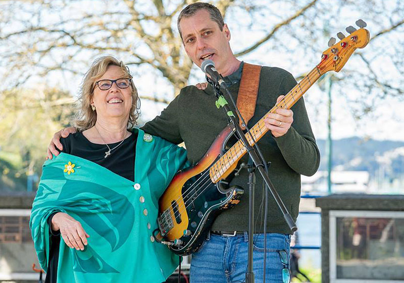 Paul Manly and Elizabeth May